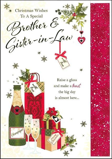 Palabras N deseos de Navidad deseos a un especial hermano y cuñada tarjeta de Navidad –