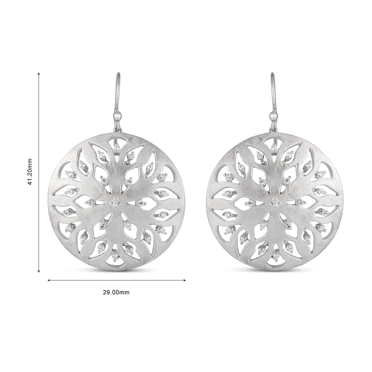 Easter Offer, Ferhe New York 925 Sterling Silver Earring withCubic Zirconia by Jewel Ivy (Image #3)
