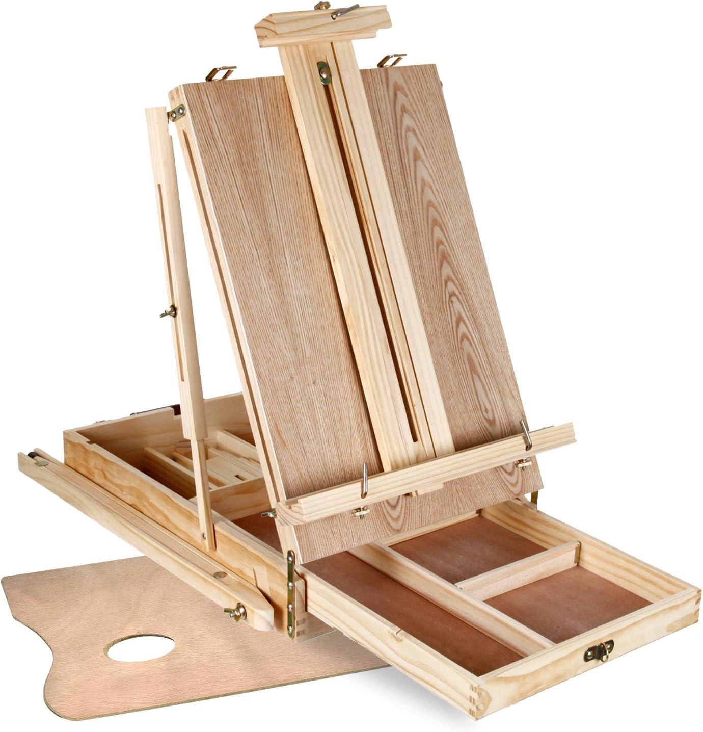 Artina Set di pittura con cavalletto multiuso Madrid in valigetta e set di acquerelli 2 tele 1 tavolozza 1 kit pennelli