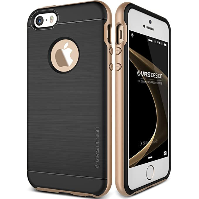 the best attitude f852d 9ce4b iPhone SE Case, VRS Design [High Pro Shield][Champagne Gold] - [Military  Grade Protection][Slim Fit] For Apple iPhone SE