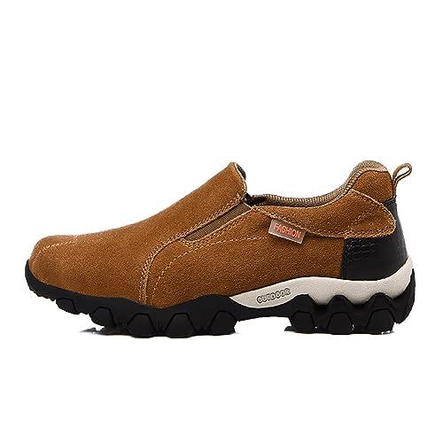 tqgold Zapatillas de Senderismo Pare Hombre, Mocasines de Cuero Aire Libre Zapatillas de Deportes: Amazon.es: Zapatos y complementos
