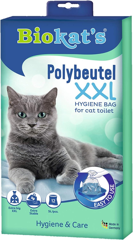 Biokats XXL, bolsas desechables - Para colocar en el arenero para gatos - Cambio higiénico y sencillo de la arena para gatos, 12 Packs of 12 unidades: Amazon.es: Productos para mascotas