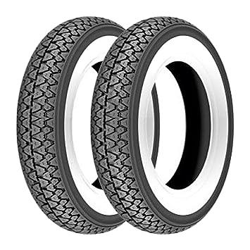 Par gomas neumáticos Kenda K333 banda blanca 3.50 - 10 51J Vespa PX 125/150: Amazon.es: Coche y moto