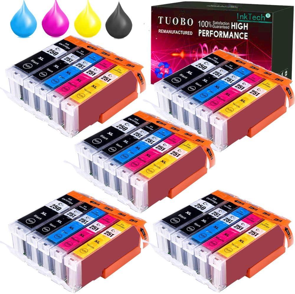30 with Gray Tuobo Compatible PGI-250 CLI-251 Ink Cartridge PIXMA iP8720 PIXMA MG6320 PIXMA MG6620 PIXMA MG7120 PIXMA MG7520 Inkjet Printers PGI-250XL CLI-251XL