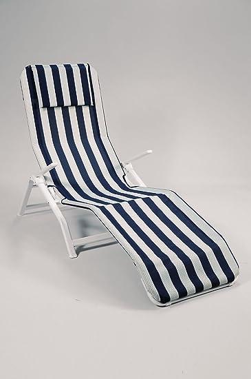 Sonnenliege Bäderliege Aldi Weiß Blau Outdoor Sessel Gartenmöbel