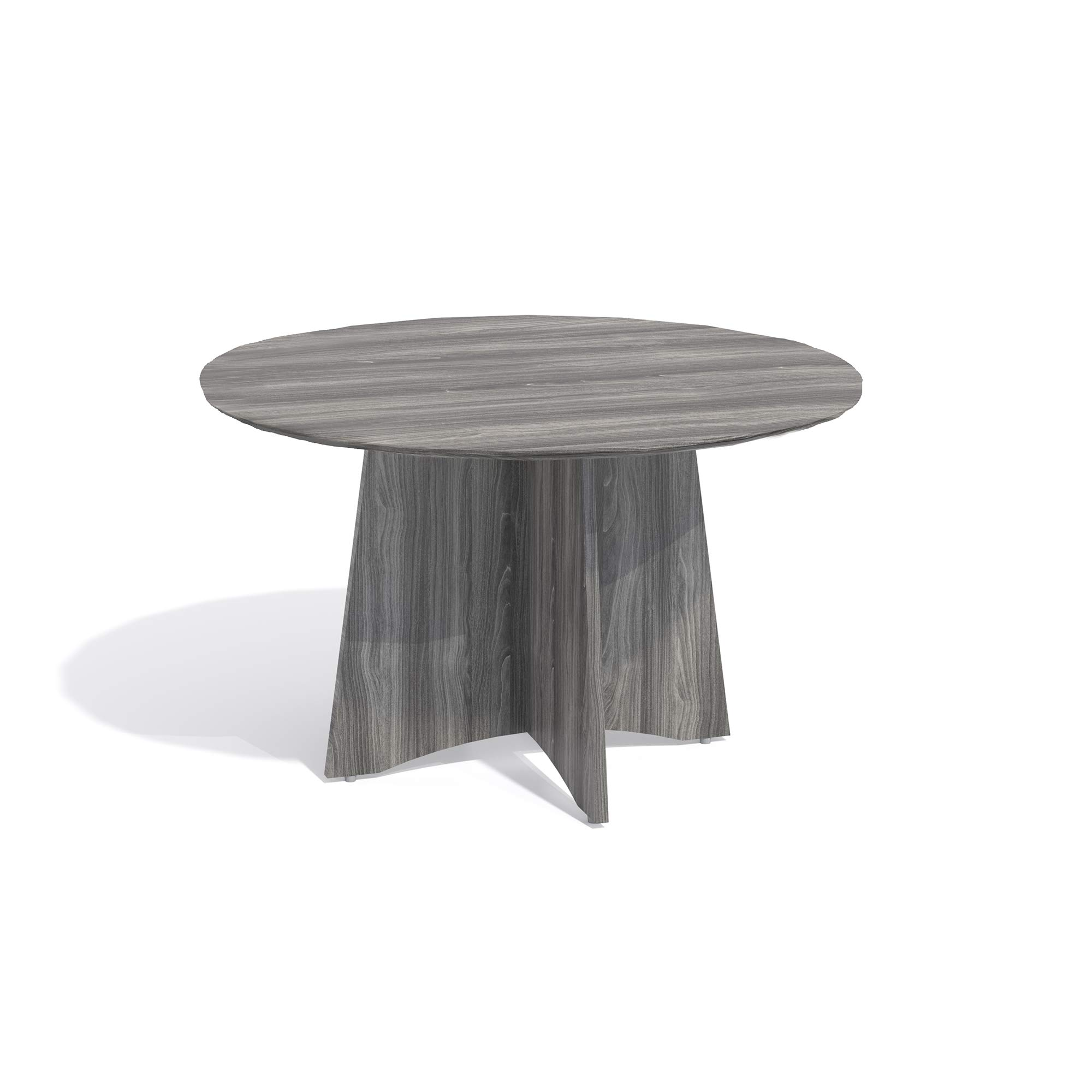 Mayline MNCR48LGS Medina 48''Dia. Round Conference Table, Gray Steel Laminate