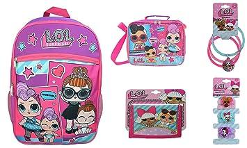 "ccf03ecb48 Gift Set 5 Items Essentials Set L.O.L Surprise! Large Work It School LOL  Backpack 16"""
