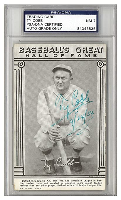 Ty Cobb Autographed Signed Baseballs Great Hall Of Fame