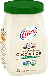 product image for Crisco Unrefined Organic Coconut Oil, 27 Ounces, (Pack of 6)
