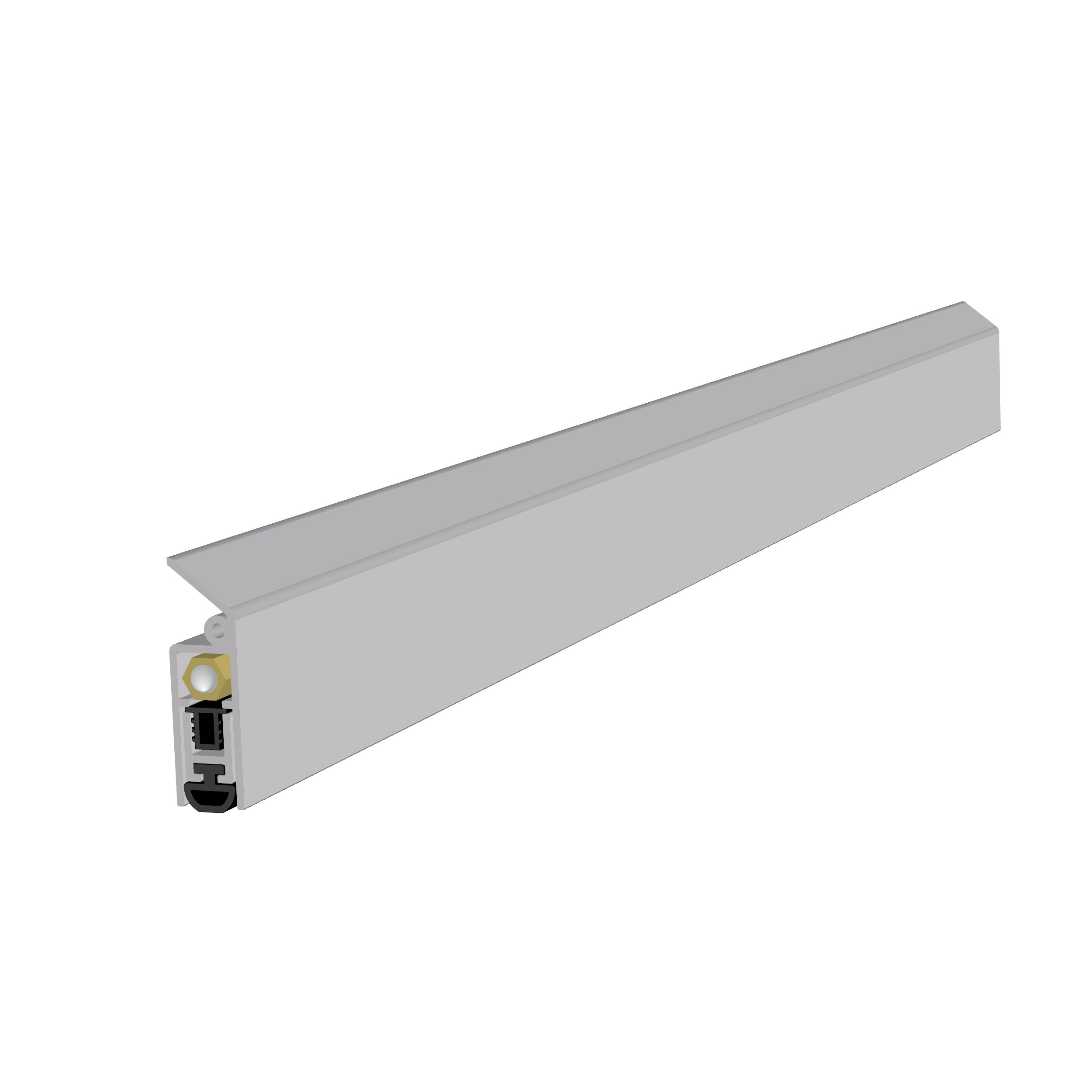 Light Duty Surface Mounted Automatic Door Bottom (7123CA) with Solid Rubber Extrusion in (32''), SMS # 6 x 1'' Supplied