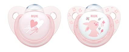 Amazon.com : Nuk Baby Rose and Blue Trendline Orthodontic ...
