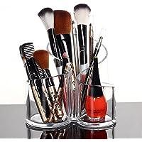 PuTwo PuTwo Makeup Organiser Brush Holder Birthday Gifts for Her Acrylic Desk Organiser- Round