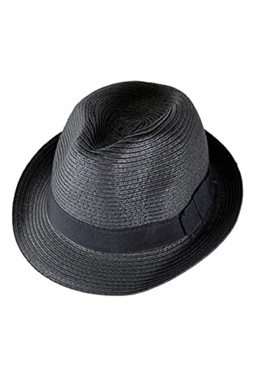 Image Unavailable. Image not available for. Color  SODIAL(R) Straw Hat  Fedora - Panama Trilby Style Packable Crushable Summer Sun Mens d81c017ed811