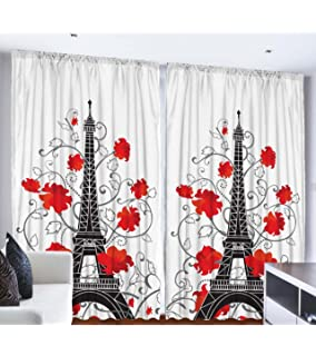 Amazon.com: Paris Decor for Bedroom Curtains City Decor Living ...