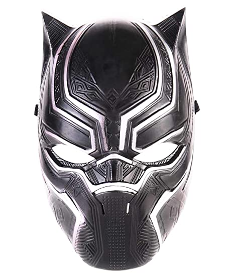 e7e46a2b Amazon.com: Superhero Cosplay Black Panther Mask for Kids or Adults ...