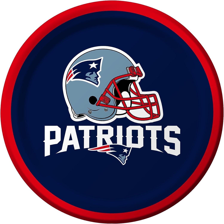 Creative Converting 8 Count New England Patriots Paper Dessert Plates - 410519