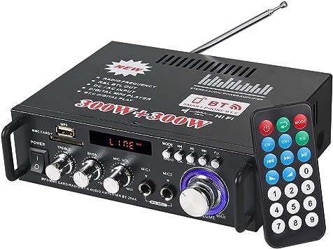 220V Stereo Verstärker Bluetooth Digital Power Amplifier FM HiFi Audio Endstufe
