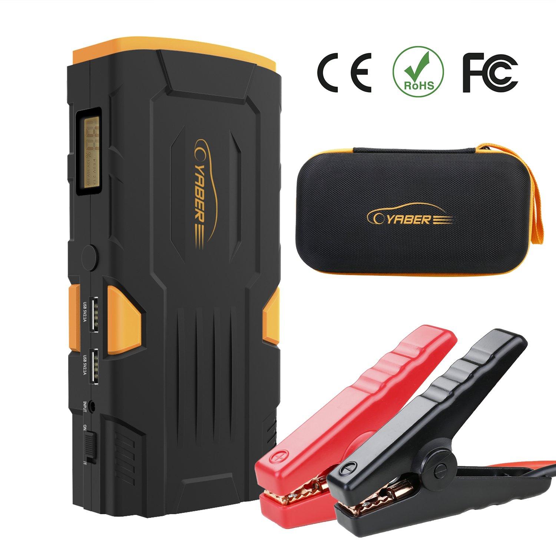Avviatore di Emergenza Auto, YABER 18000mAh Jump Starter Auto 800A Avviatore Batteria per Moto/ Auto (fino a 6L a Gas o Diesel da 5L)