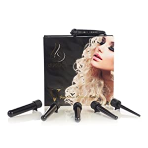 Bebella 5p Interchangeable 5 in 1 Professional Clipless Hair Curling Iron System