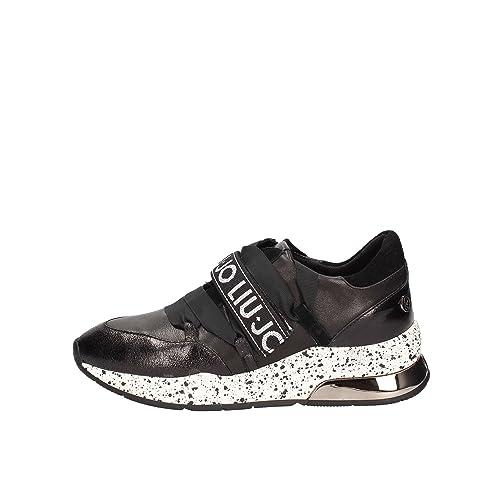 Liu Jo Scarpe Donna Sneakers Basse B68001 PX001 Karlie 03 Sneaker Nero   Amazon.it  Scarpe e borse 5ab5c2a3ba0