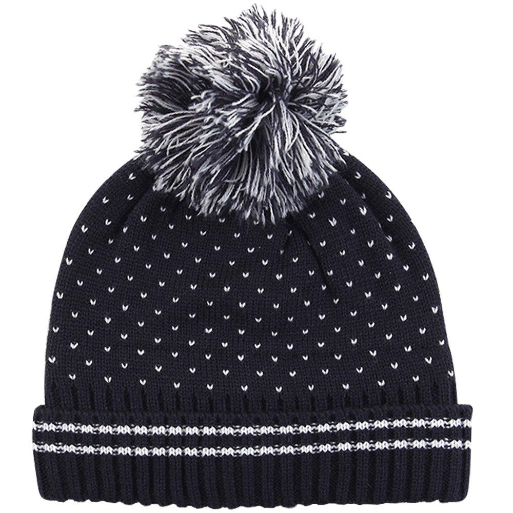 E.mirreh Baby Newborn Kids Knitted Beanie Winter Warm Hat Boy Sesame Black