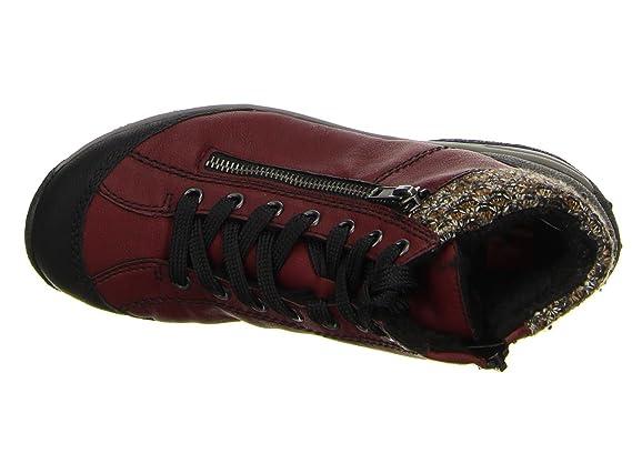 Rieker Damen Schnür Schuhe in Rot oder Blau, (L5223 05