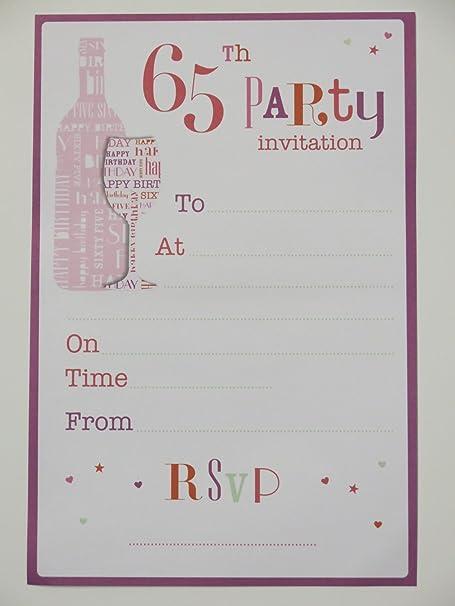 65th Tarjetas De Invitación Para Fiestas De Cumpleaños