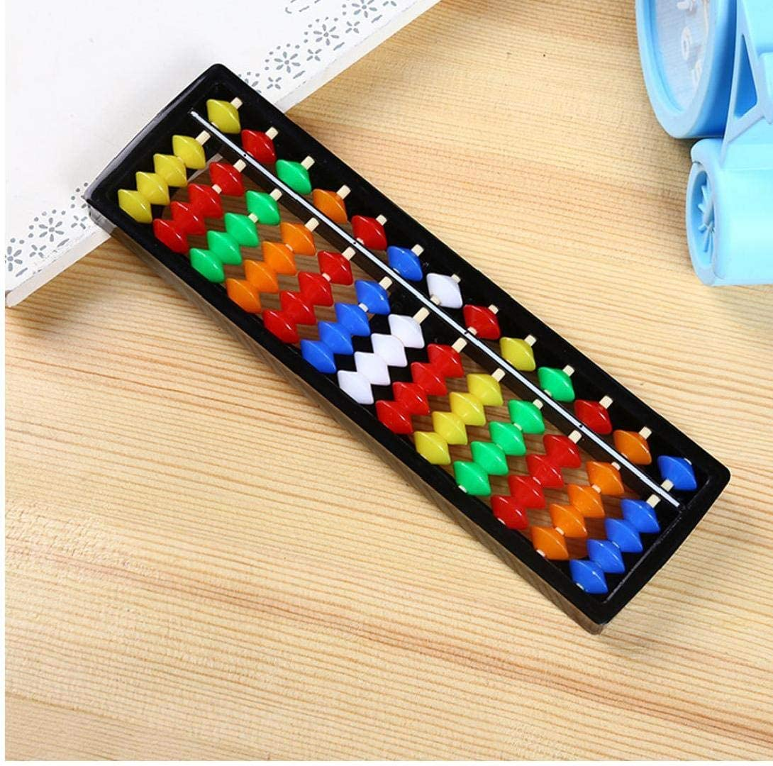 Plastic Abacus Arithmetic Soroban Calculating Tool 13 Rods with ...