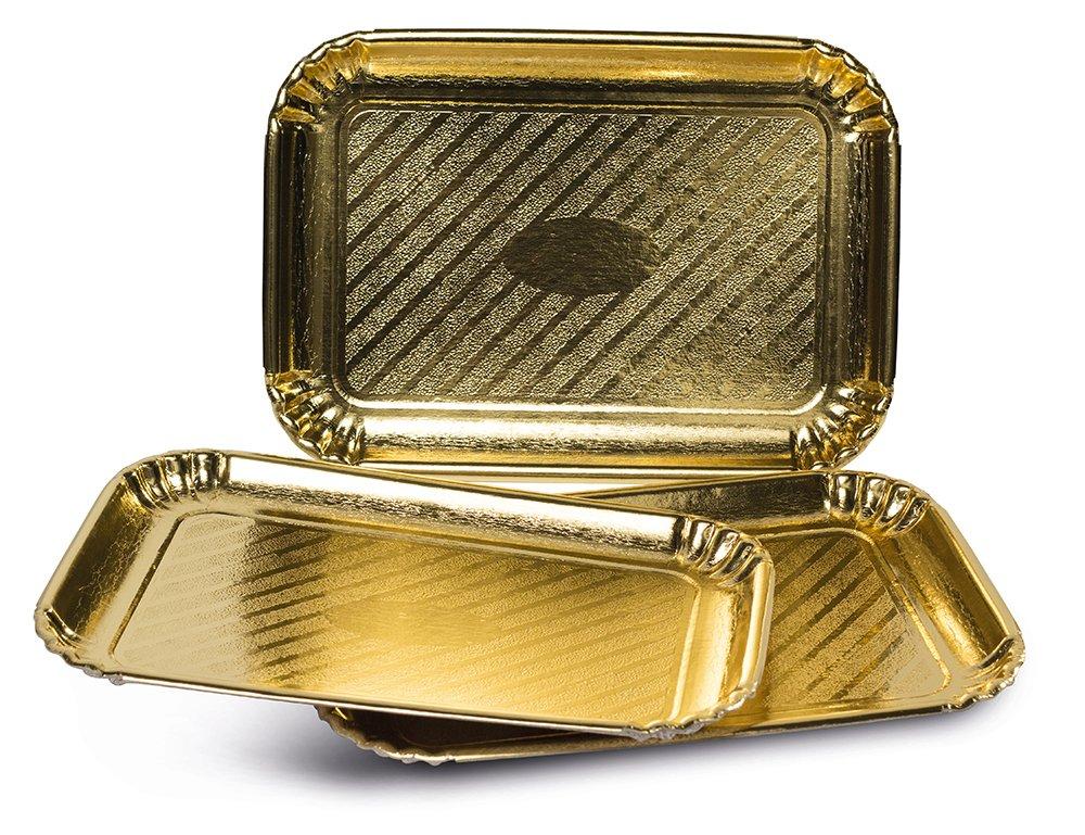 3 vassoi 19x28cm Colore oro Guardini Monouso Cartoncino