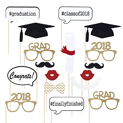 Luoem 2018 Graduation Photo Booth Props Graduation Decorations