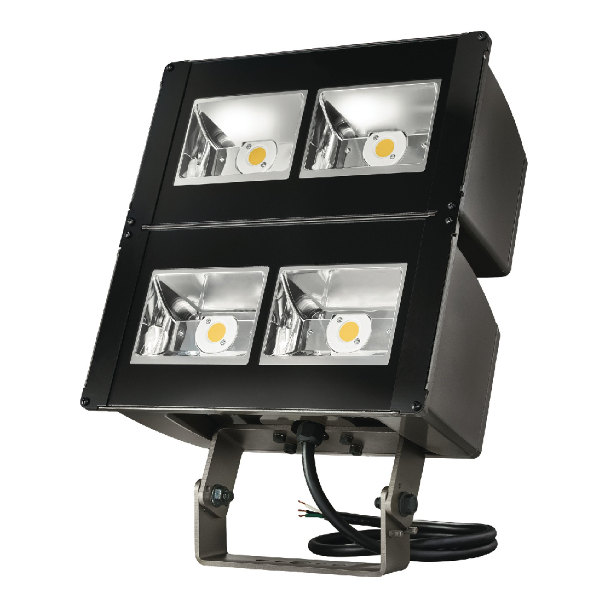 Lumark Nffld-L-C100-T Night Falcon 252W Carbon Outdoor Integrated LED Area Light with Trunnion Mounting, Bronze