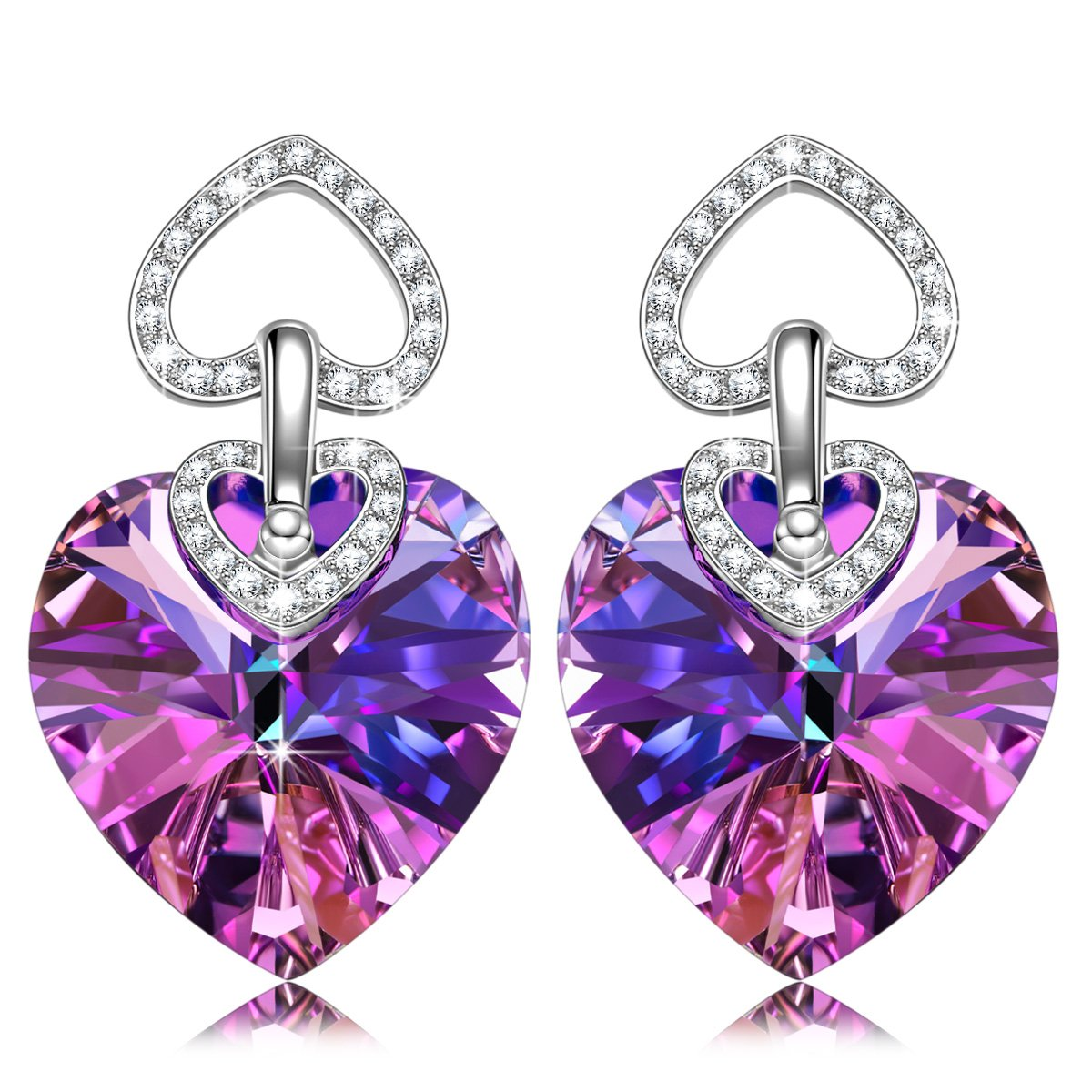 Hypoallergenic Heart Stud Earrings, ♥Christmas Jewelry Gifts for ...