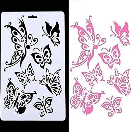 Amazon Com Genenic Butterfly Painting Stencil Template Hollow