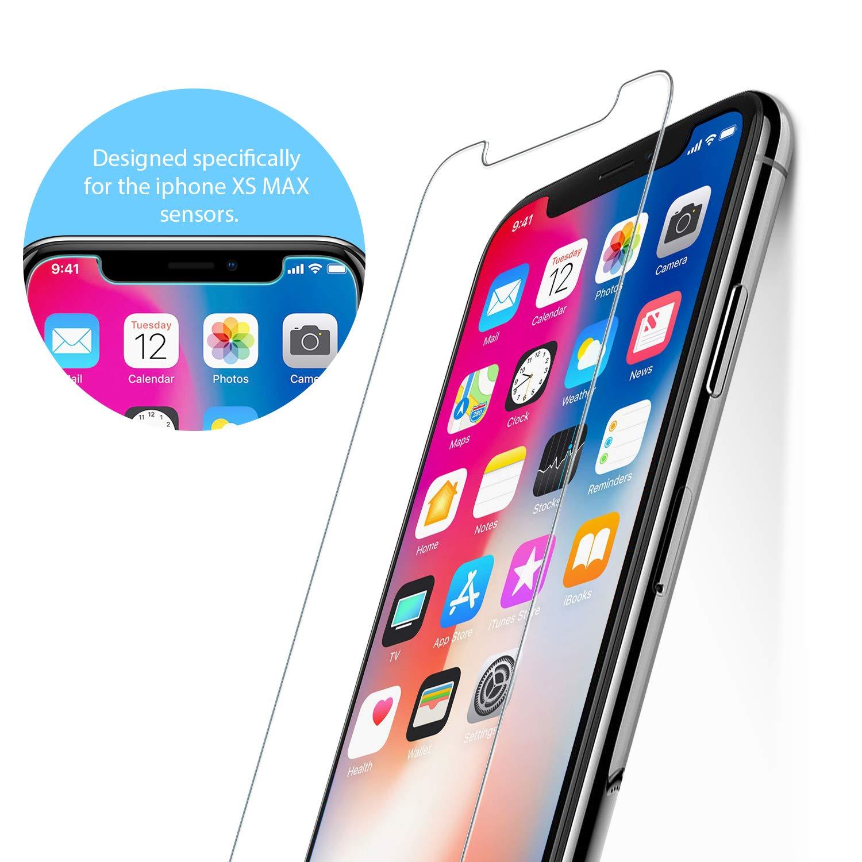 9H Alta Dureza Vidrio Templado Protector de Pantalla para Apple iPhone X//iPhone XS Anti Aceite 3 Unidades Bear Village/® Protector de Pantalla iPhone X//iPhone XS