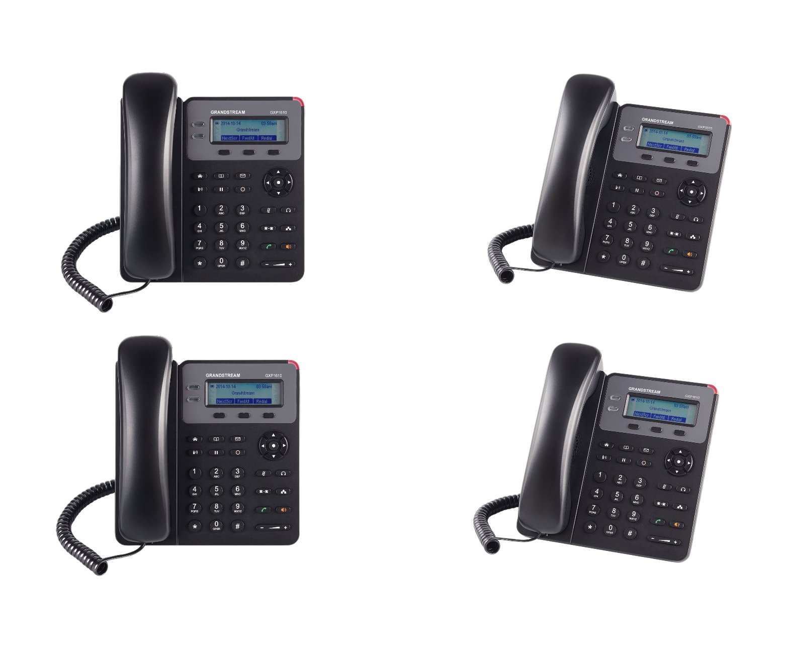 Grandstream GXP1610, SOHO IP Phone, 1 SIP Account, 3-Way Configuration, 4 Bundle
