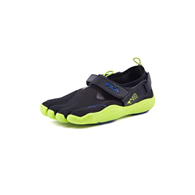 8068b8a0ad Fila Kid's Skele-Toes Ez Slide Drainage Shoes,Black,2 M Toddler Kid