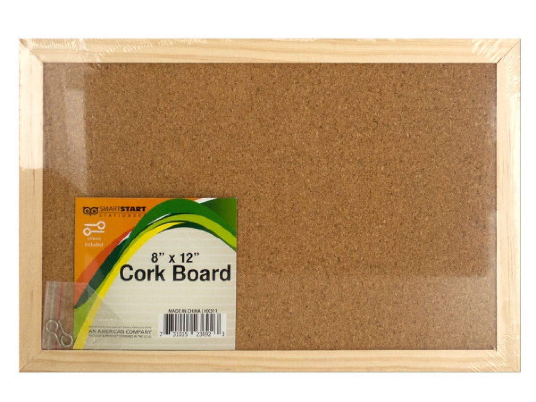 StarSun Depot Wood Framed Cork Board - Set of 24