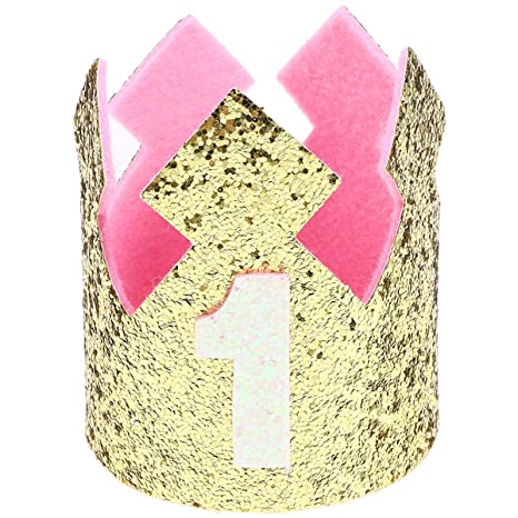Amosfun - Sombrero de cumpleaños para bebé, Corona de 1 año ...