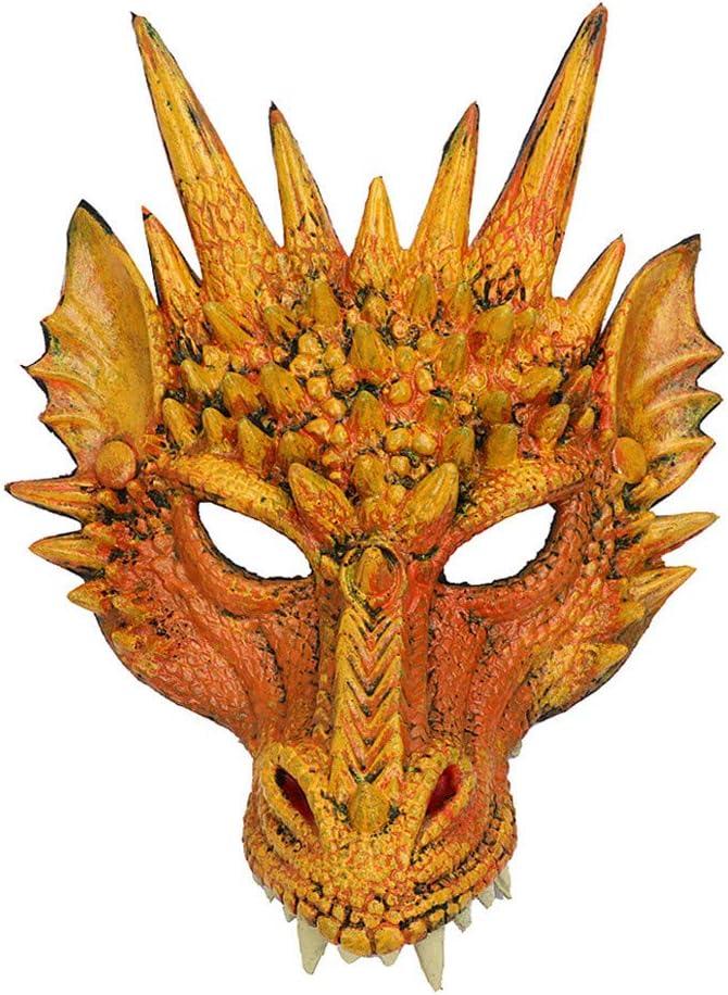 Halloween Animal Mask Dinosaurio Dragon Head Mask Full Face Masks Wing Tail Accessory