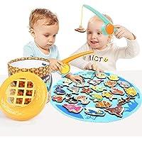 لعبة صيد اسماك مغناطيسية للاطفال الصغار من توب رايت، العاب ما قبل المدرسة مينتسوري للاطفال بعمر سنتين للبنات والاولاد…