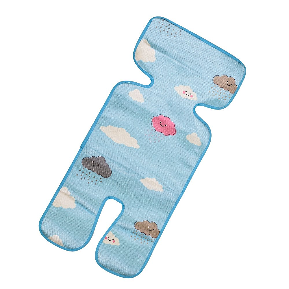 Topwon Universal Baby Stroller Seat Pad Summer Cooling Mat (Clouds)
