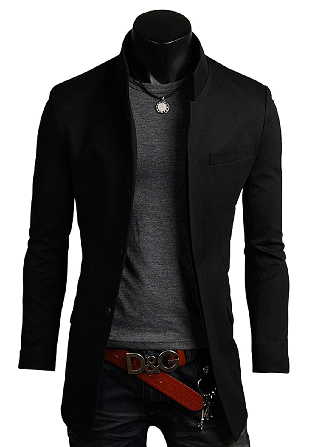 Amazon.com: Hombre Premium de China Collar largo Blazer ...