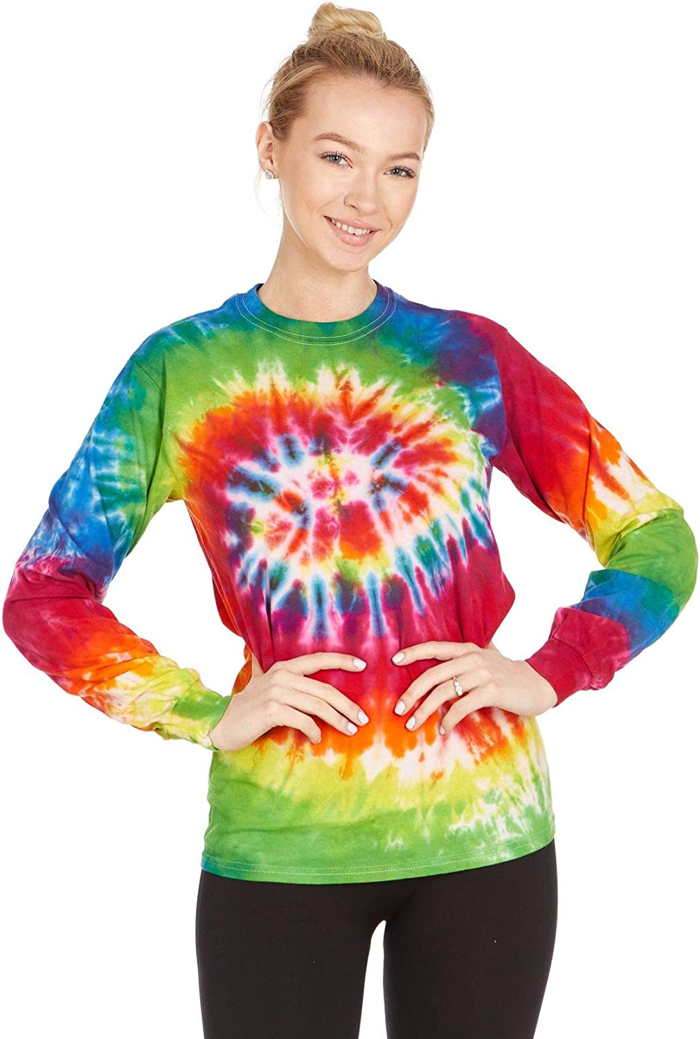 Youth Regular Long Sleeve Crew Neck Cotton Nature Peace Sign Tee Top for Youth