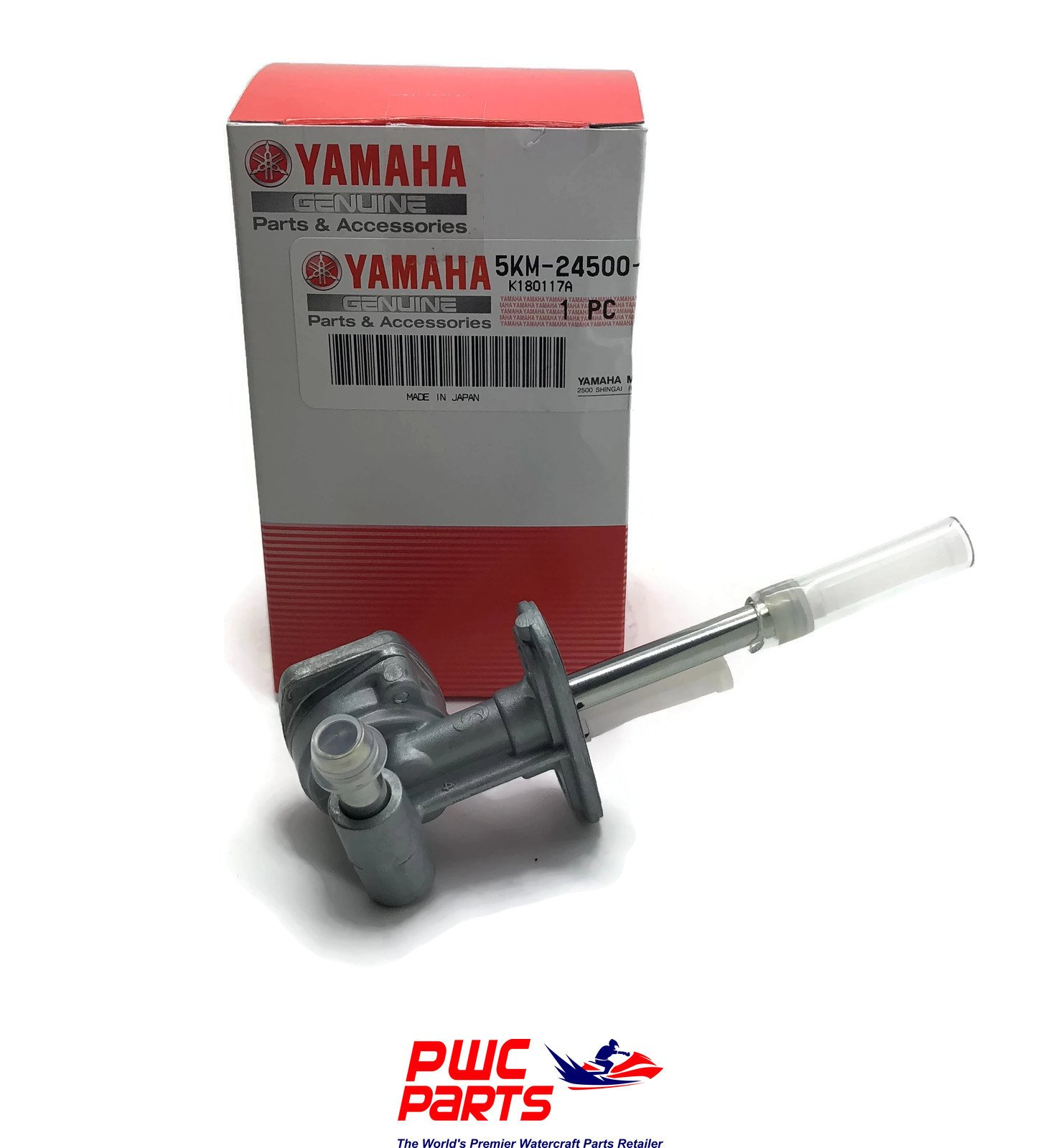 Yamaha 5KM-24500-10-00 Fuel Cock Assembly 1; 5KM245001000 Made by Yamaha