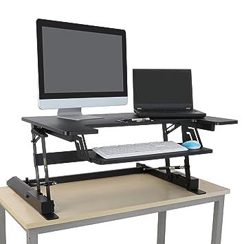 "36/"" Standing Stand up Desk Height Adjustable Computer Riser Converter Tabletop"