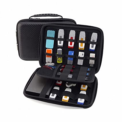 383b95c44c82 Image Unavailable. Image not available for. Color  GUANHE USB Drive  Organizer Electronics Accessories Case Shuttle with Cable Tie   Hard Drive  Bag
