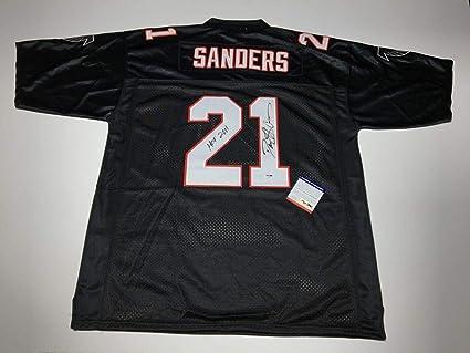 hot sales c0b1d b7555 Deion Sanders Signed Atlanta Falcons Football Jersey ...