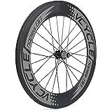 VCYCLE Nopea 700C Bici da Strada in Carbonio Ruote 23mm Largeur 88mm Copertoncino Shimano o Sram 8/9/10/11 Velocità(Ruota Posteriore)
