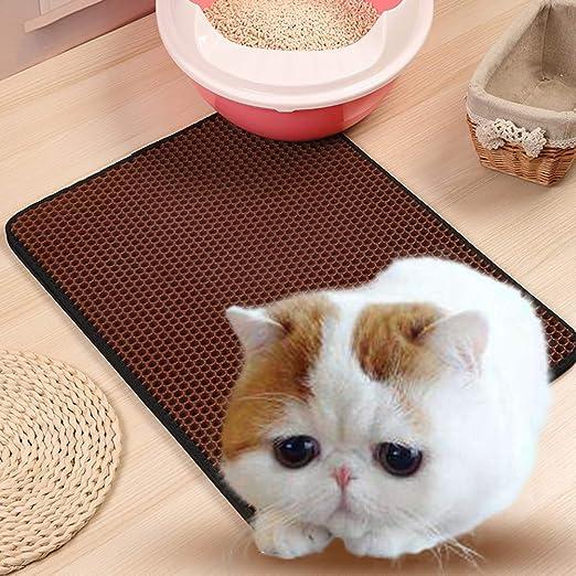 Shuohu EVA Doble Capa Cat Kitten Arenero Suave, Impermeable ...