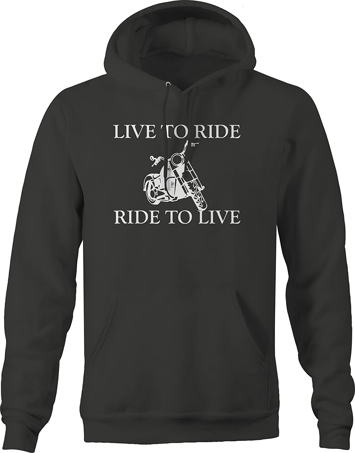 Motorcycle Live to Ride Ride to Live Hooded Fleece Graphic Hoodie for Men